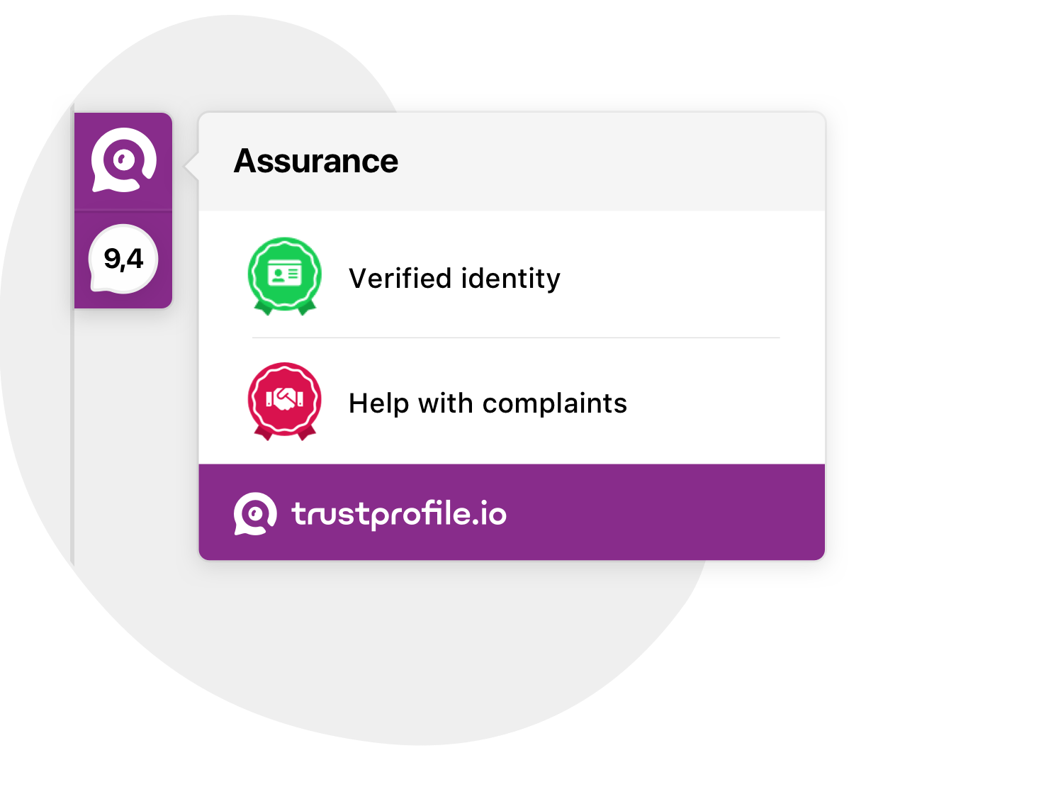 TrustProfile sidebar badges