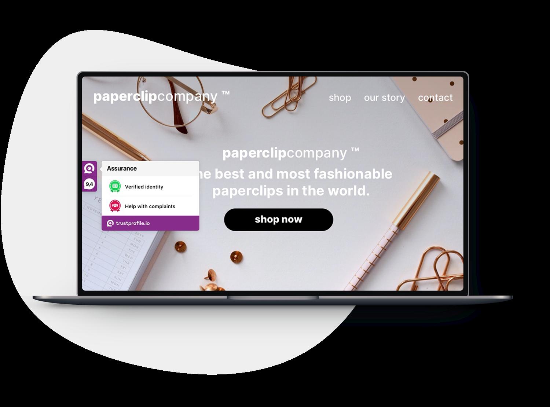 TrustProfile sidebar on webshop