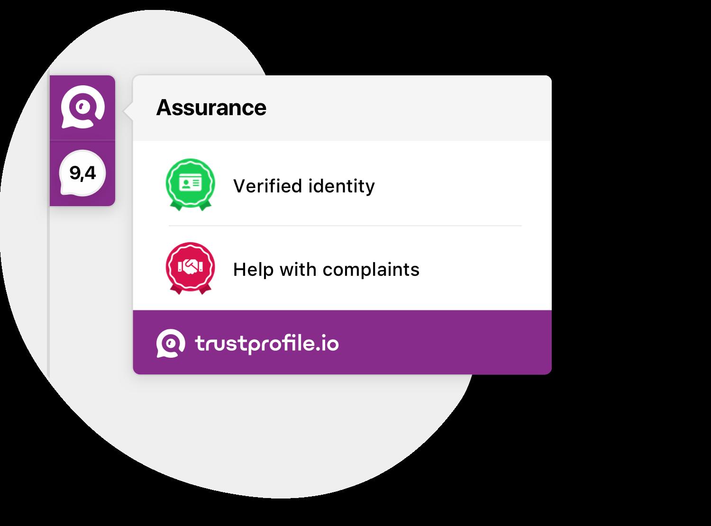 TrustProfile sidebar badges